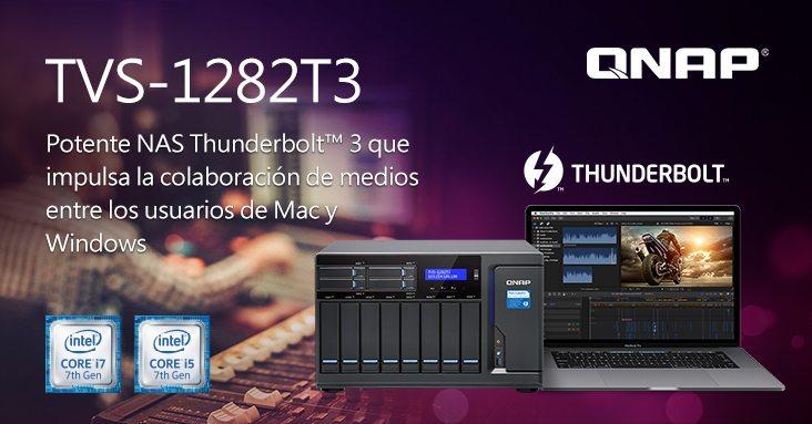 QNAP lanza el nuevo NAS Thunderbolt 3 TVS-1282T3
