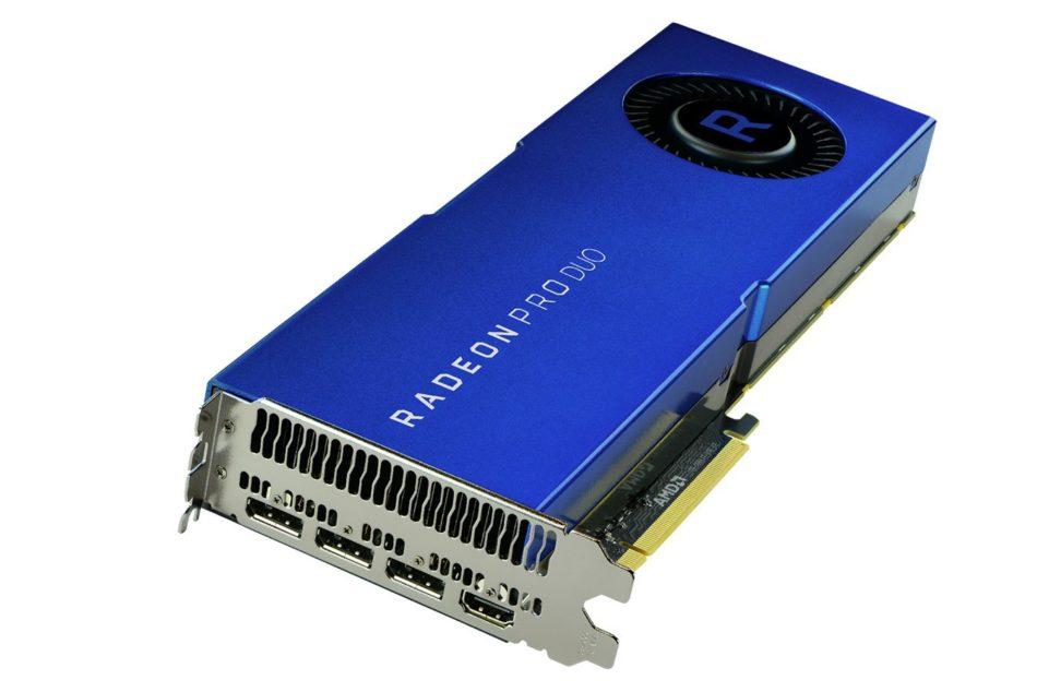 Radeon Pro Duo de AMD, la tarjeta gráfica dual profesional