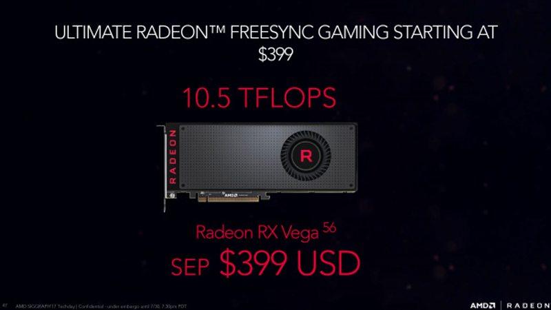 AMD Radeon RX VEGA 56 ¿Tendrá finalmente un precio correcto?