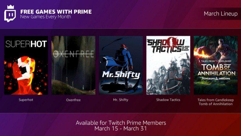 Montones de juegos gratis cada mes, con Twich Prime.