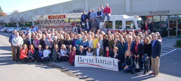 Benchmark Realty Agents showed up in force to support the Franklin Firefighters Toy and Clothing Drive.