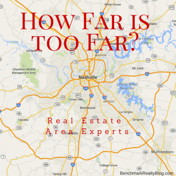 How Far is Too Far for a realtor to drive- Benchmark Realty