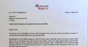Surat edaran Bencoolen Mall