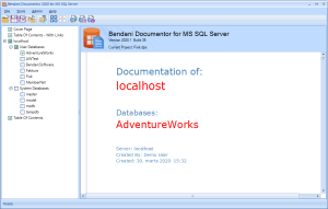 SQL Documentation of AdventureWorks Created