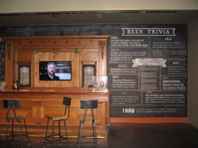Bar with beer menu at the Museum's exhibit (Now closed)
