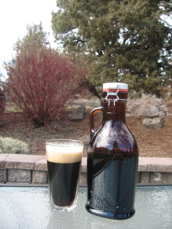 Deschutes Brewery Black Butte Porter beer and a growler