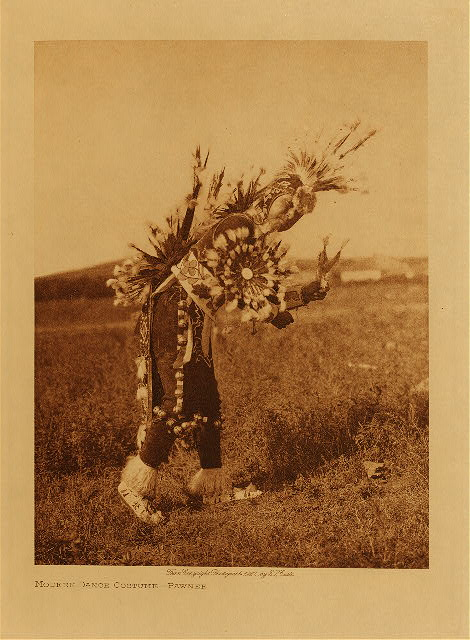 Modern dance costume - Pawnee  by Edward S. Curtis. 1927.