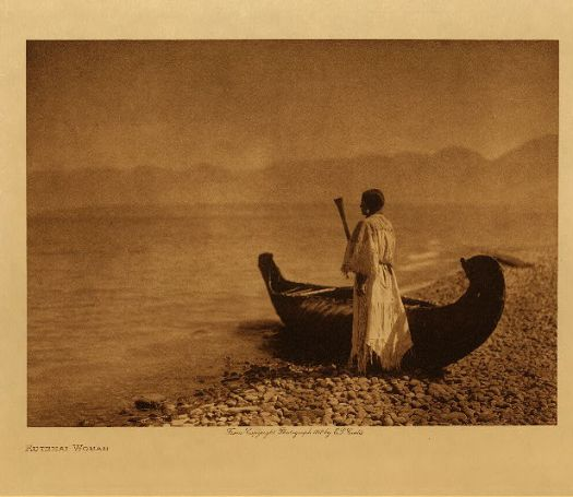 Edward S. Curtis Kutenai woman. 1910.