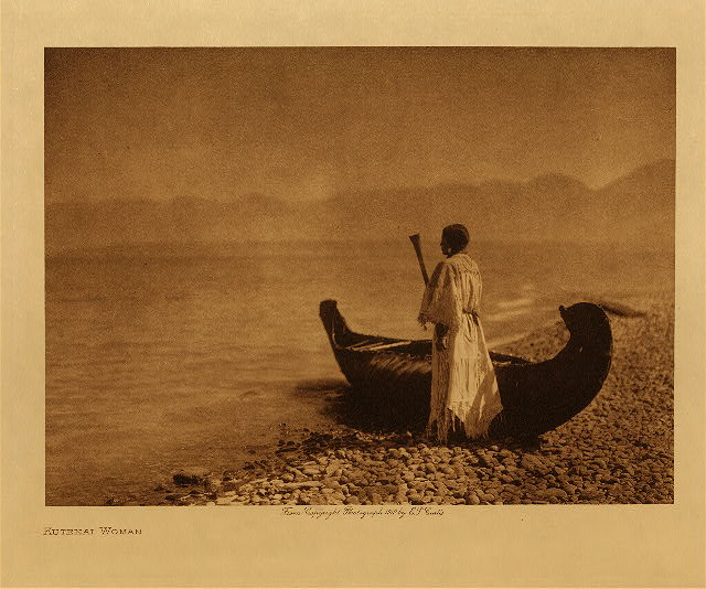 Kutenai woman by Edward S. Curtis. 1910.