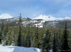Snowshoeing at Mt Bachelor - South Sister & Broken Top
