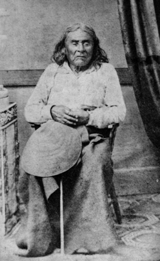 Chief Sealth. 1864. Photograph by E. M. Sammis. HistoryLink.org.