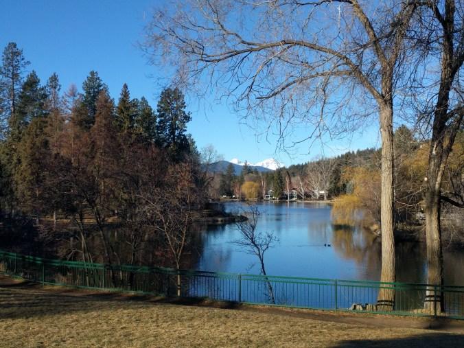 Mirror Pond View in Bend, Oregon 30December 2017