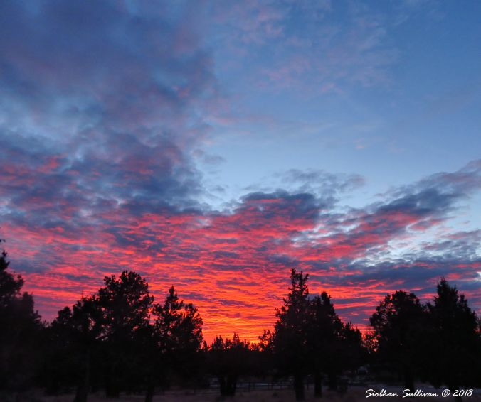 High Desert sunrise over Bend, Oregon 27December2017
