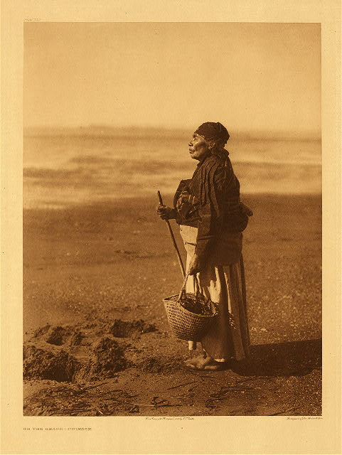On the Beach - Chinook by Edward S. Curtis