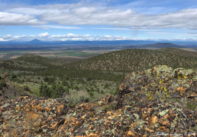 Viewpoints of Oregon, the view from Gray Butte of the Cascades 8May2018