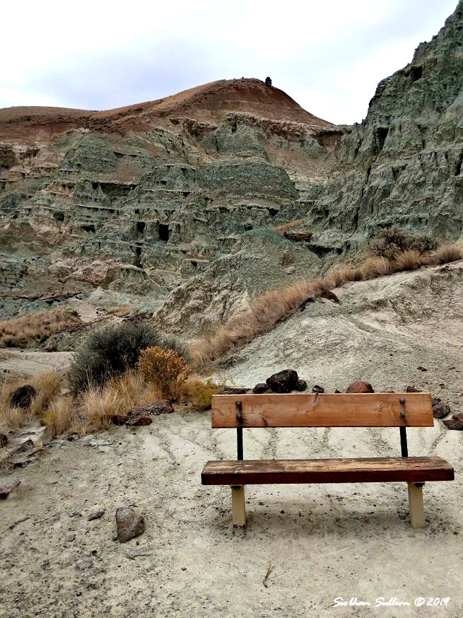 Blue Basin bench at John Day Fossil Beds National Monument