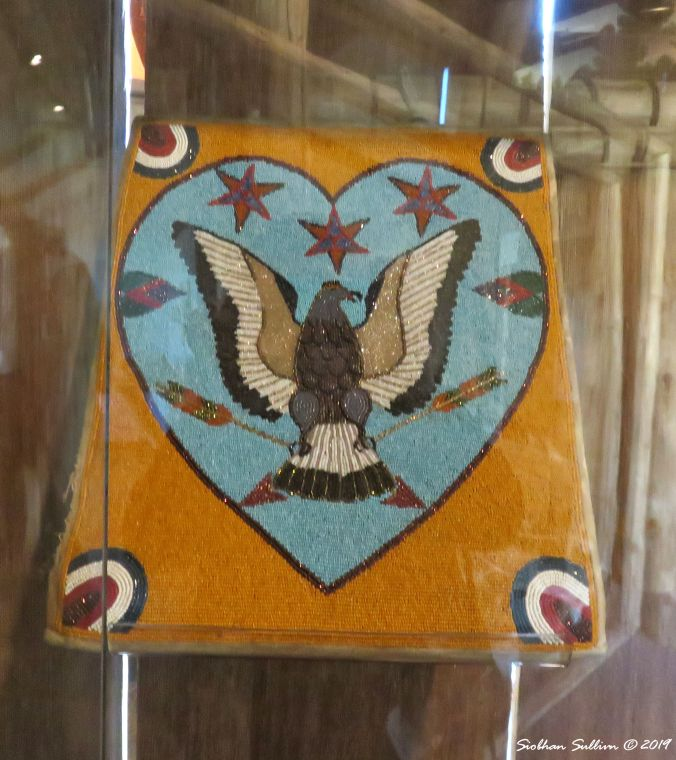 Native American beadwork, Gorge Discovery Center, Oregon 16October2017