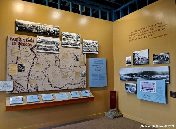 Display on settlers early years in Oregon, Baker City, Oregon 24October2018