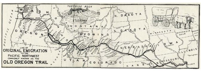 Oregon Trail map by Ezra Meeker