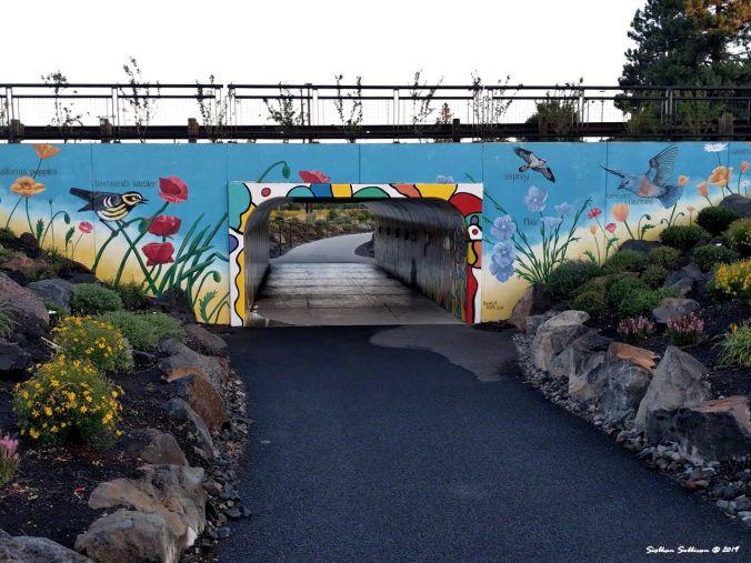 Tunnel under Colorado Avenue, Bend, Oregon August 2018