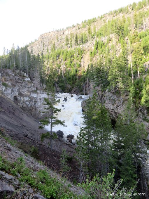 Firehole Falls in Yellowstone National Park, Wyoming May 2018