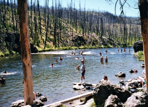Firehole swimming hole in Yellowstone National Park, Wyoming 1998