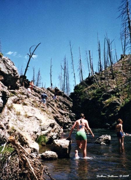 Firehole swimming area in Yellowstone National Park, Wyoming 2011