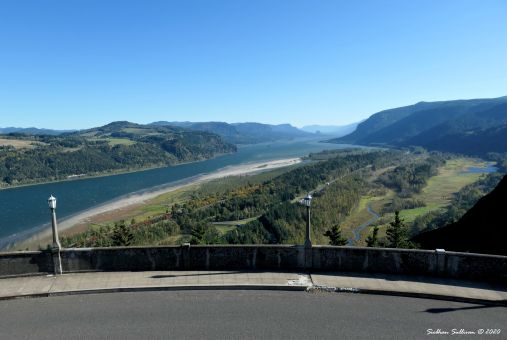 Vista House view, Corbett, Oregon October 2019