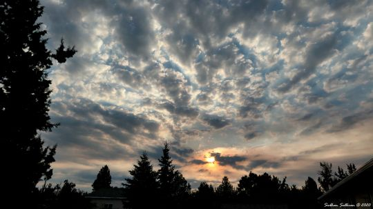 A glorious cloudscape over Bend, Oregon August 2020