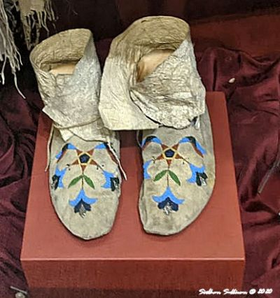 Beaded footwear, High Desert Museum, Oregon August 2020