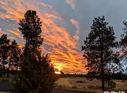 Sunrise of hope in Bend, Oregon Sept 2020