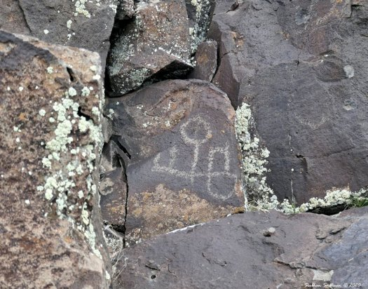 Petroglyphs in Harney county, Oregon April 2019