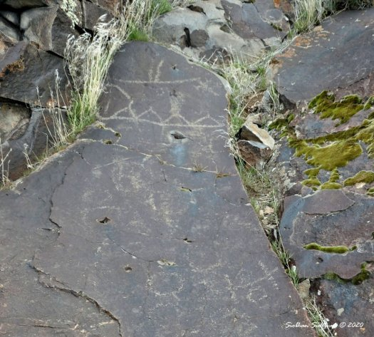 Rock art in Harney county, Oregon April 2019