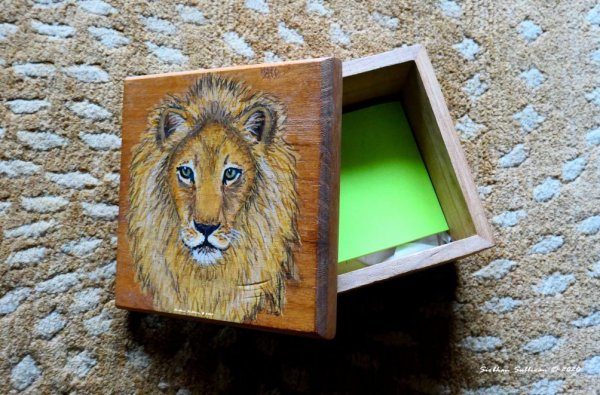 Painting on a box by Siobhan Sullivan