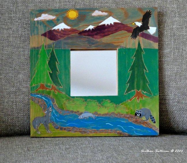 Woodland scene mirror