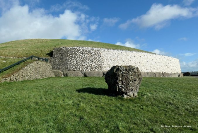 façade of Newgrange March 2020