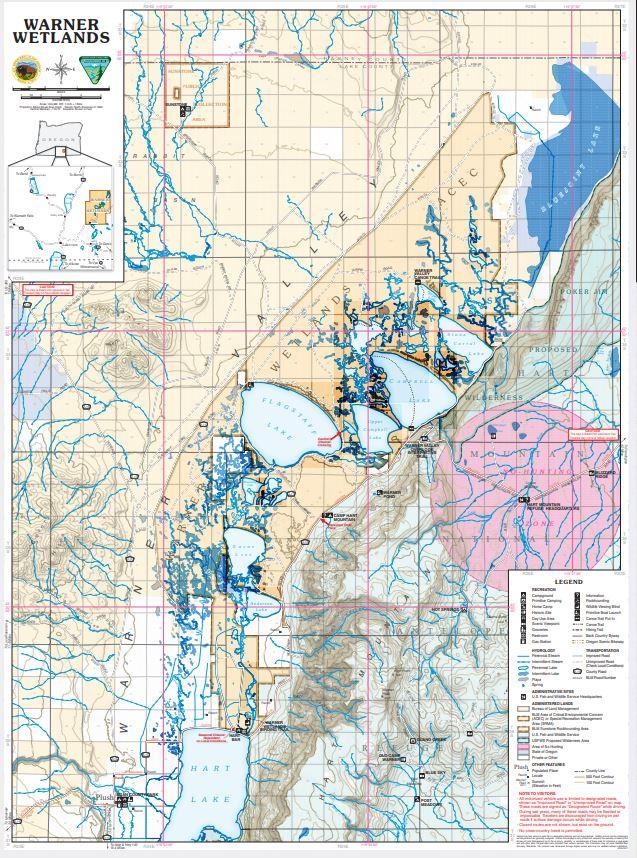 Warner Wetlands map BLM