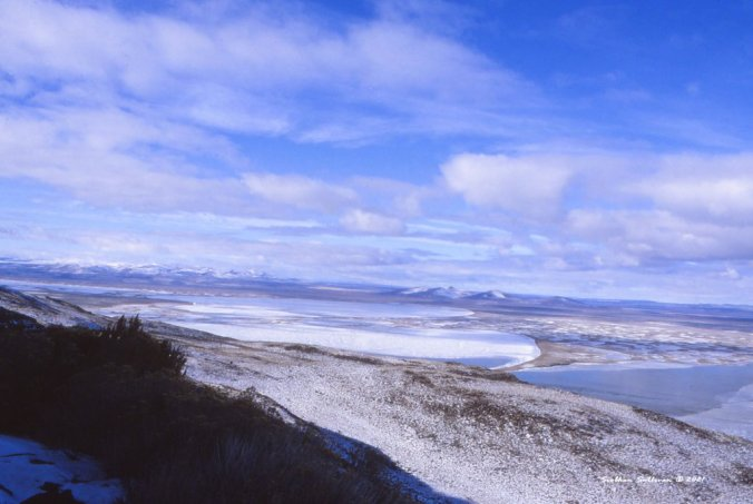 Lakes in the Warner Valley in winter