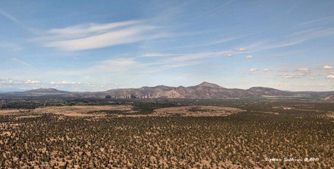 Oregon mountains from afar