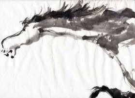 sumi-e horse