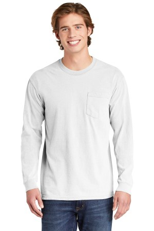 COMFORT COLORS  Heavyweight Ring Spun Long Sleeve Pocket Tee. 4410