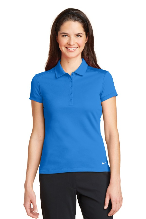 Nike Ladies Dri-FIT Solid Icon Pique Modern Fit Polo.  746100