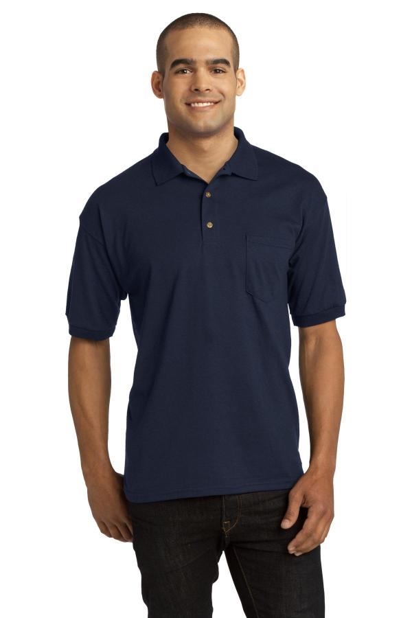 Gildan DryBlend 6-Ounce Jersey Knit Sport Shirt with Pocket. 8900