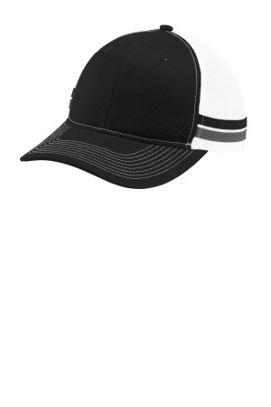 Port Authority  Two-Stripe Snapback Trucker Cap. C113
