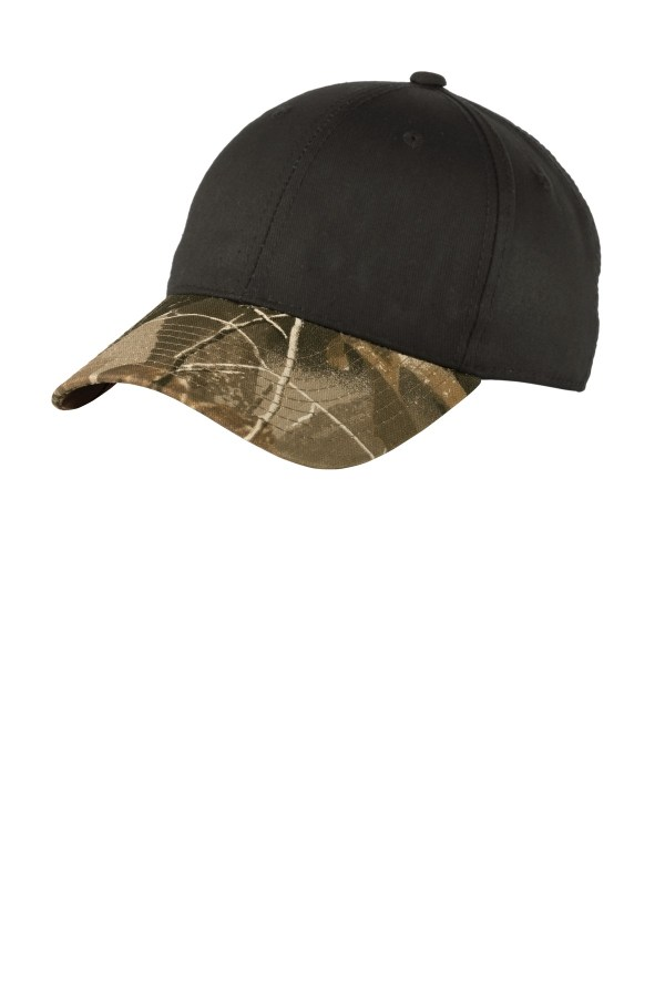 Port Authority Twill Cap with Camouflage Brim. C931