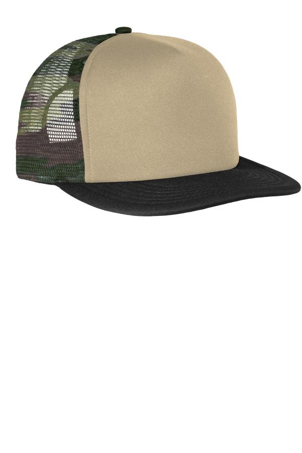 District Flat Bill Snapback Trucker Cap. DT624