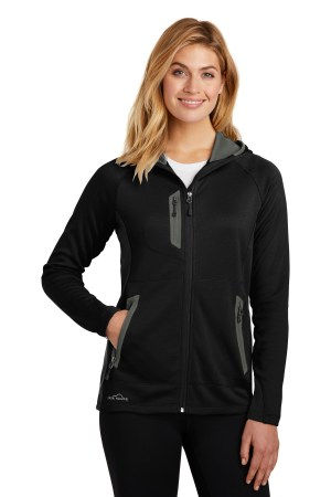 Eddie Bauer  Ladies Sport Hooded Full-Zip Fleece Jacket. EB245