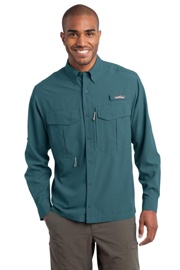 Eddie Bauer - Long Sleeve Performance Fishing Shirt. EB600