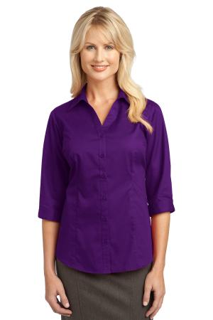 IMPROVED Port Authority Ladies 3/4-Sleeve Blouse. L6290
