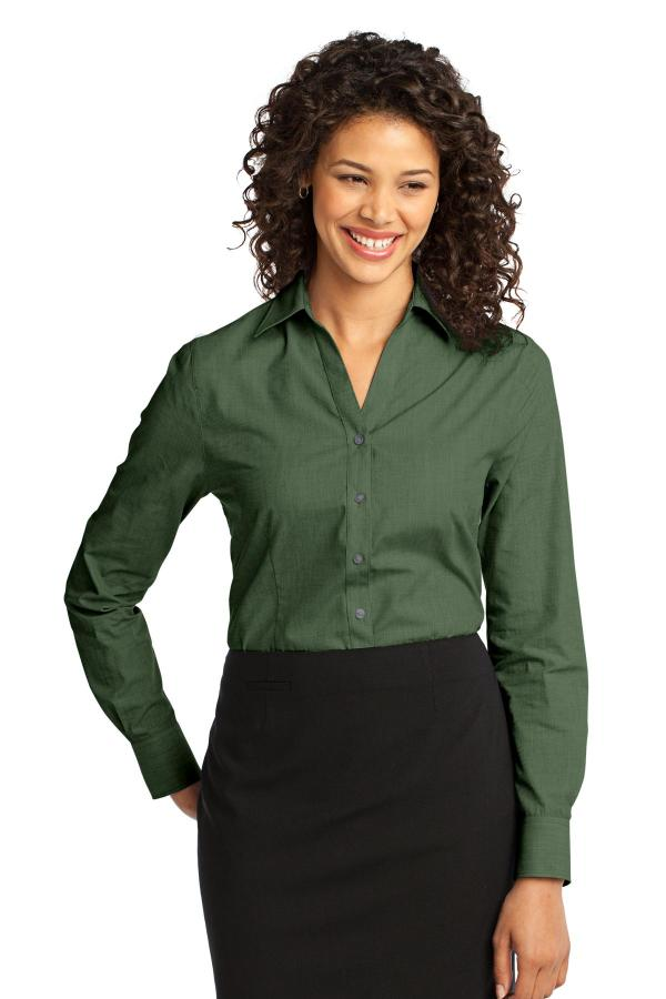 Port Authority Ladies Crosshatch Easy Care Shirt. L640